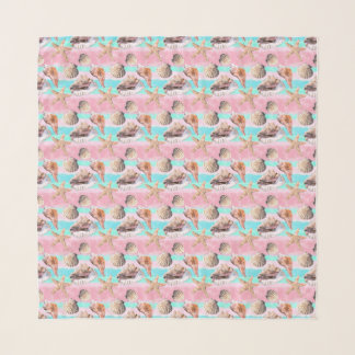 Muscheln-Rosa und TürkisWatercolor Schal