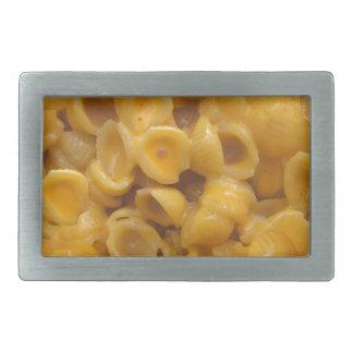 Muscheln und Käse Rechteckige Gürtelschnalle