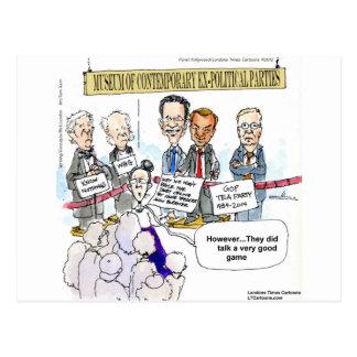 Museum der ex politische Partys-lustigen Geschenke Postkarten
