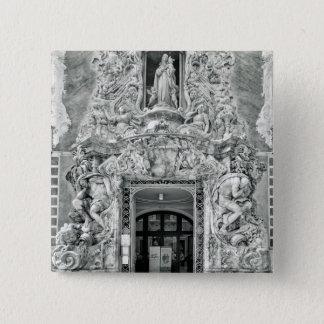Museum Gonzalez Marti in Valencia Quadratischer Button 5,1 Cm
