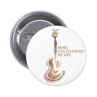 MUSIC CHANGED MY LIFE RUNDER BUTTON 5,7 CM