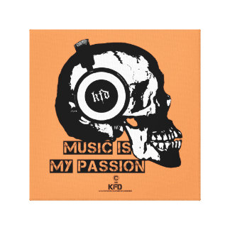 music is my passion leinwanddruck