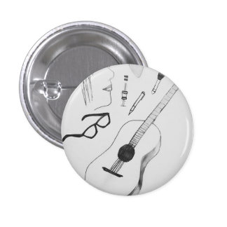 music runder button 3,2 cm