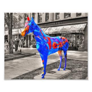 Musical, künstlerisches gemaltes Pferd Photo Druck