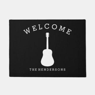Musik-Akustikgitarre-Willkommen Türmatte