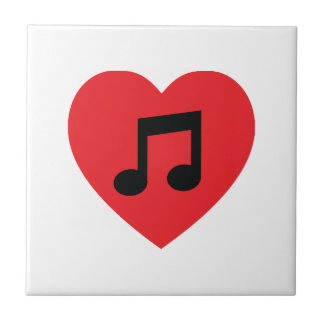 Musik-Anmerkungs-Herz-Keramik-Fliese Fliese