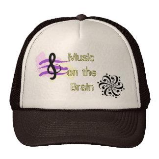 Musik auf dem Gehirn-Hut Netzkappen