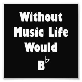 Musik B flach Fotodruck
