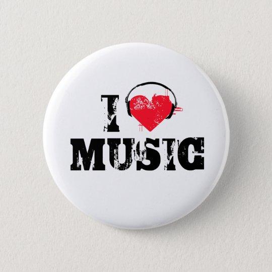 Musik der Liebe I Runder Button 5,1 Cm