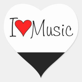 Musik des Herzens I Herz Sticker
