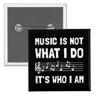 Musik, die ich bin quadratischer button 5,1 cm
