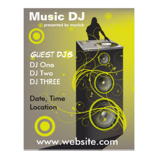 Musik DJ-Rave-Flyer