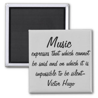 Musik drückt… aus quadratischer magnet