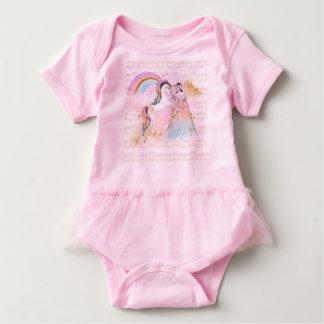 Musik Einhorn-Prinzessin Rainbow spielt rosa Blau Baby Strampler