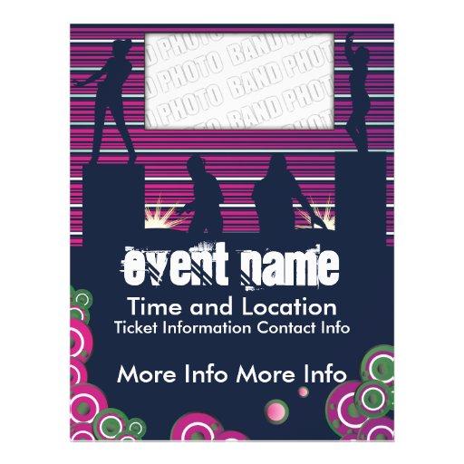 Musik-Ereignis-Flyer mit DJs und Tänzer