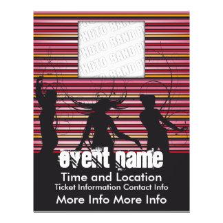 Musik-Ereignis-Flyer mit Tänzern