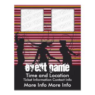 Musik-Ereignis-Flyer mit Tänzern 2