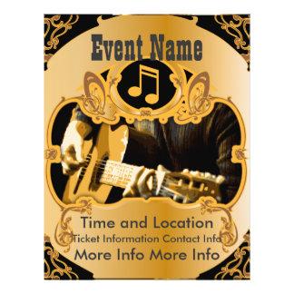 Musik-Ereignis-Vintager GoldFlyer 21,6 X 27,9 Cm Flyer