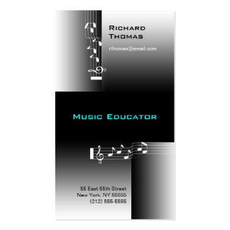 Musik-Erzieher-Visitenkarte-Anmerkung