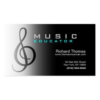 Musik-Erzieher-Visitenkarte-Chrom Visitenkarten