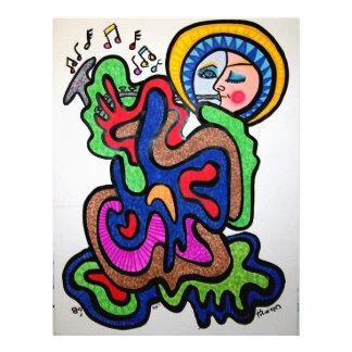 Musik-Farbe durch Piliero 21,6 X 27,9 Cm Flyer
