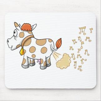 Musik Farting Kuh-Mausunterlage Mousepads