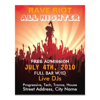 Musik-Flyer des Rave-Aufstand-2