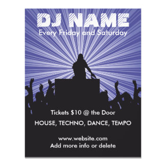 Musik-Flyer DJ-Namen-2 21,6 X 27,9 Cm Flyer
