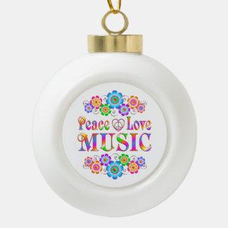 Musik-FriedensLiebe Keramik Kugel-Ornament