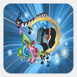 Musik für das Soul Quadratischer Aufkleber