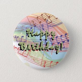 Musik-Geburtstags-Knopf Runder Button 5,1 Cm