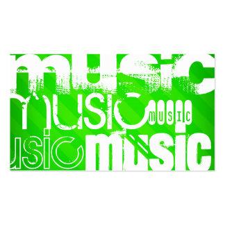 Musik; Grüne Neonstreifen Visitenkarten