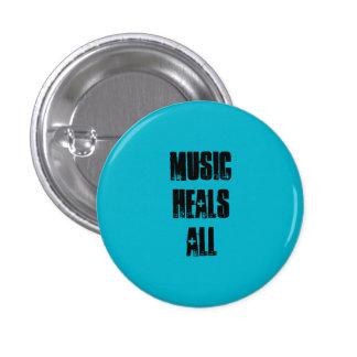 Musik heilt allen Knopf Runder Button 2,5 Cm