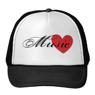 Musik-Herz-Fernlastfahrer-Hut