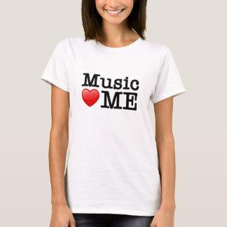 Musik-Herz ich T-Shirt
