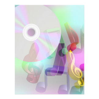 Musik-Hintergrund 21,6 X 27,9 Cm Flyer