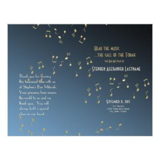 Musik in der Luft-Bar Mitzvah Programm-Abdeckung Flyerbedruckung