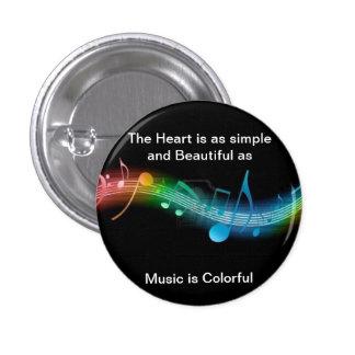 Musik ist bunt button