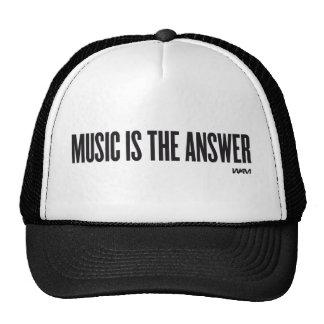 Musik ist die Antwort Retrokappe