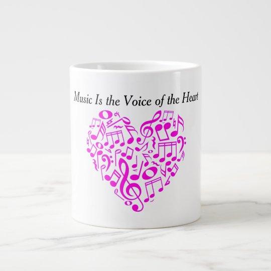 Musik ist die Stimme des Herzens Jumbo-Mug