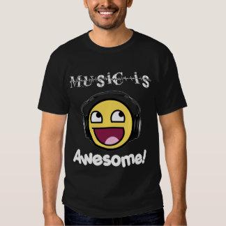 Musik ist fantastisch! Smiley (die Dunkelheit der T-shirts