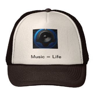 Musik ist Leben-Fernlastfahrer-Kappe Retrokultmützen
