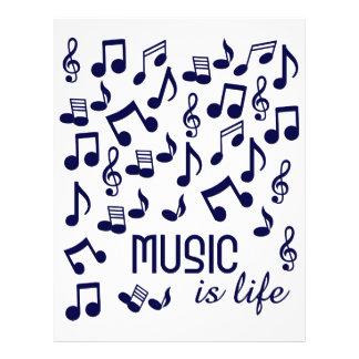 Musik ist Leben-Flyer 21,6 X 27,9 Cm Flyer