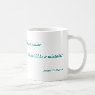 Musik ist Leben Kaffeetasse