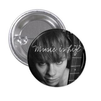 Musik ist Leben-Knopf Runder Button 2,5 Cm