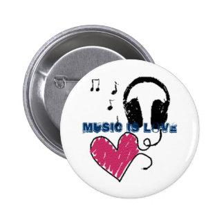Musik ist Liebe Buttons