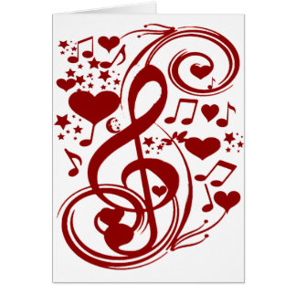 Musik ist love_ grußkarte