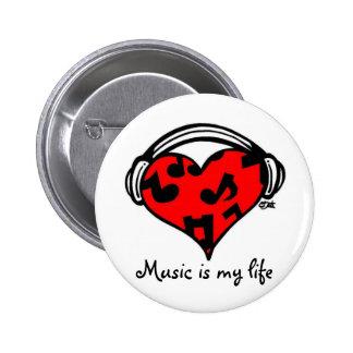 Musik ist mein LebenButton Anstecknadelbuttons