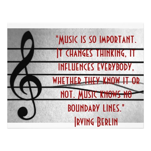 Musik ist so wichtig flyer druck