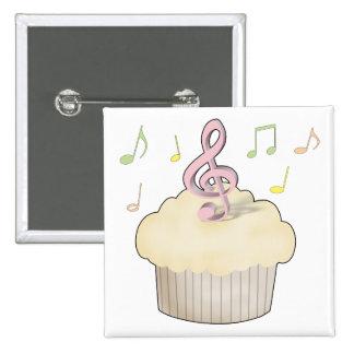 Musik-kleiner Kuchen Quadratischer Button 5,1 Cm